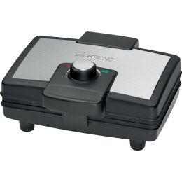 CLATRONIC Waffeleisen WA 3606, schwarz/edelstahl
