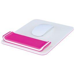 LEITZ Handgelenkauflage Ergo WOW mit Mauspad, weiß/pink