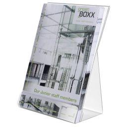 DURABLE Prospekthalter, DIN A5, aus Polystyrol, transparent