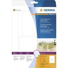 HERMA CD-Einleger für Jewelcase, 151 x 118 mm, weiß