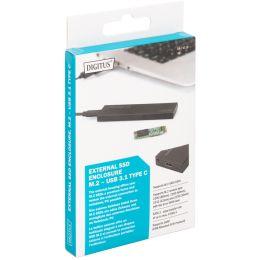 DIGITUS M.2 SATA Festplatten-Gehäuse, USB 3.1, schwarz