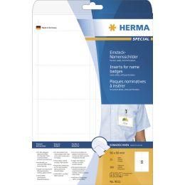 HERMA Einsteck-Namensschilder SPECIAL, 75 x 40 mm, weiß