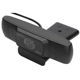 DIGITUS Full HD Webcam 1080p mit Autofokus, Weitwinkel