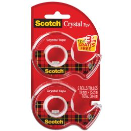 Scotch Handabroller Crystal, transparent, Vorteilspack
