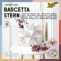 folia Faltblätter Bascetta-Stern, weiß-transparent
