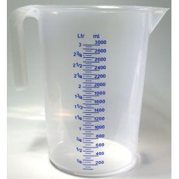 IWH Messbecher, transparent, Inhalt: 3 Liter