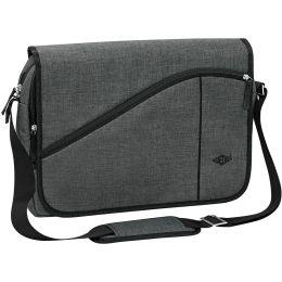 WEDO Notebook-Umhängetasche Messenger Bag COLLEGE, grau
