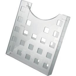helit Prospekthalter the grid, A4 hoch, grau-transparent