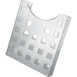 helit Wandhalter für Prospekthalter, grau-transparent