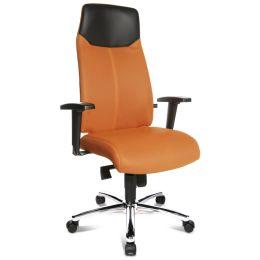 Topstar Chefsessel High Sit up, orange, inkl. Armlehnen