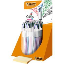 BIC Druckkugelschreiber 4 Colours Shine, im Thekendisplay
