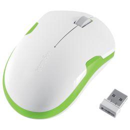 LogiLink Optische Notebook Maus, kabellos Maus, weiß/grün