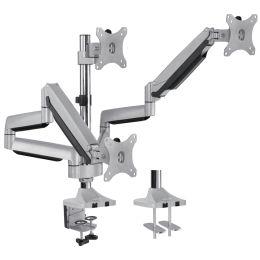 LogiLink TFT-/LCD-Monitorarm, aus Aluminium, 3-fach, silber