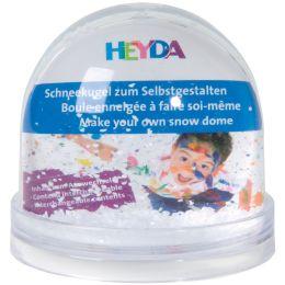 HEYDA Schneekugel zum Selbstgestalten, (B)90 x (H)85 mm