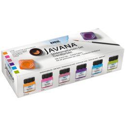 KREUL Seidenmalfarbe JAVANA, Trendfarben-Set, 6 x 20 ml