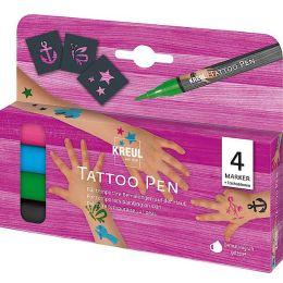 KREUL Tattoo Pen, 4er-Set Anker, Sterne, Schmetterling