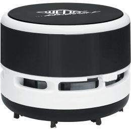 WEDO Mini-Tischstaubsauger, Kunststoff, schwarz/weiß