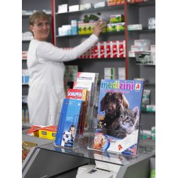 helit Tisch-Prospekthalter the helpdesk, DIN lang, 1 Fach