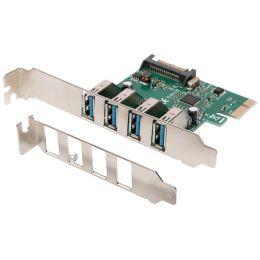 DIGITUS USB 3.0 PCI-Express Karte, 4 Port, 5 GBit/Sek.