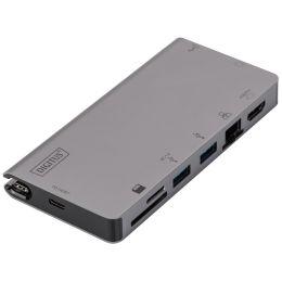DIGITUS Multiport Travel Dock, USB-C, 8-Port