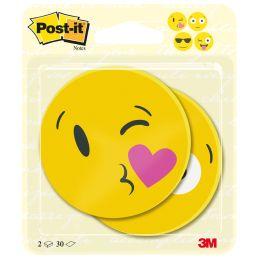 Post-it Haftnotizen Notes Face Design, 4 Motive