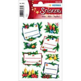 HERMA Weihnachts-Sticker DECOR Tannengestecke, Widmung