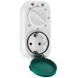 LogiLink Mechanische Zeitschaltuhr mit Dämmerungssensor,IP44