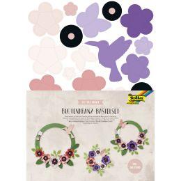 folia Blütenkranz-Bastelset, für 3 Kränze