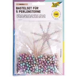 folia Perlensterne-Set Pastell, 340-teilig