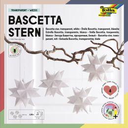 folia Faltblätter Bascetta-Stern, 75 x 75 mm, weiß