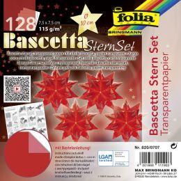 folia Faltblätter Bascetta-Stern, 75 x 75 mm, rot