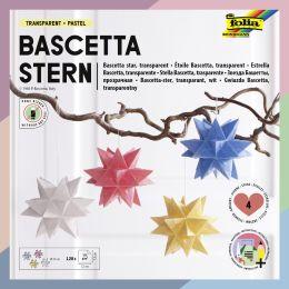 folia Faltblätter Bascetta-Stern, 75 x 75 mm, pastell