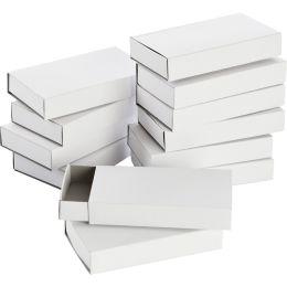 folia Streichholzschachteln groß, blanko, weiß