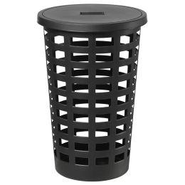 plast team Wäschesammler BOSTON, 54 Liter, rund, weiß