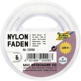 folia Nylonfaden auf Spule, 0,3 mm x 100 m, transparent