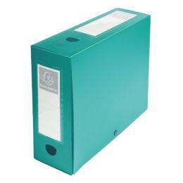 EXACOMPTA Archivbox mit Druckknopf, PP, 100 mm, grün