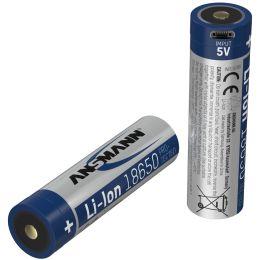 ANSMANN Li-Ion Akku 18650 mit Micro-USB Kupplung, 3.400 mAh