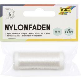 folia Nylonfaden auf Spule, 0,3 mm x 70 m, transparent