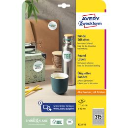 AVERY Zweckform Kennzeichnungs-Etiketten, Durchmesser: 65 mm
