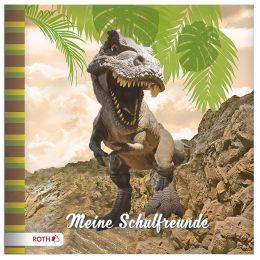 ROTH Freundebuch Tyrannosaurus, 165 x 165 mm, 64 Seiten