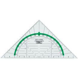 M+R Geodreieck Green Line, Hypotenuse: 160 mm, glasklar