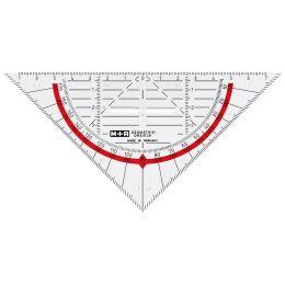 M+R Geodreieck, Acrylglas, Hypotenuse: 160 mm, glasklar