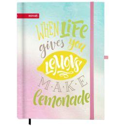 ROTH Schülerkalender Handlettering-Timer Lemon