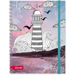 ROTH Schülerkalender Scribble Timer 2.0 Lighthouse