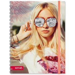 ROTH Schülerkalender Scribble Timer 2.0 Girl