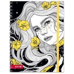 ROTH Schülerkalender Scribble Timer 2.0 Flower Power