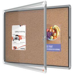 nobo Schaukasten Premium Plus, Kork-Rückwand, 8 x DIN A4