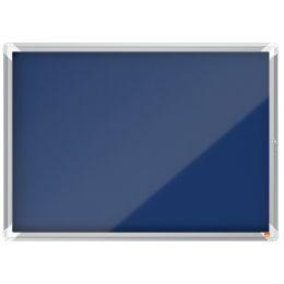 nobo Schaukasten Premium Plus, Filz-Rückwand, 8 x A4, blau