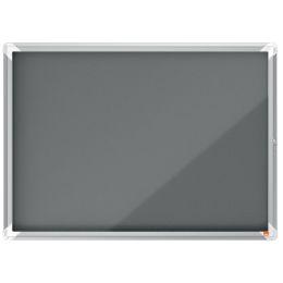 nobo Schaukasten Premium Plus, Filz-Rückwand, 8 x A4, grau