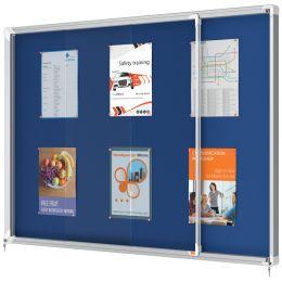 nobo Schaukasten Premium Plus, Filz-Rückwand, 18 x DIN A4